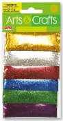 0.85 OZ MINI GLITTER - 6 POUCHES METALLIC (24 PACKS) PF-2854