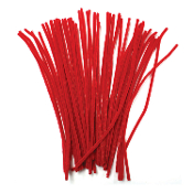50 PC CHENILLE STEMS - RED (24 PACKS) PF-2789
