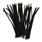 50 PC CHENILLE STEMS - BLACK (24 PACKS) PF-2791