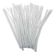 50 PC CHENILLE STEMS - WHITE (24 PACKS) PF-2792
