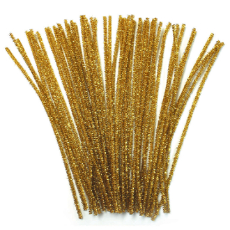 40 PC METALLIC CHENILLE STEMS - GOLD (24 PACKS) PF-2795