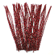 40 PC METALLIC CHENILLE STEMS - RED (24 PACKS) PF-2797