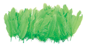"0.43 OZ 5""-7"" GOOSE CRAFT FEATHERS - L. GREEN (24 PACKS) PF-2899"