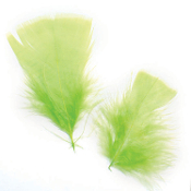 0.49 OZ LIGHT GREEN FEATHERS (24 PACKS) PF-2473