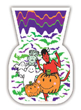 SALE! HALLOWEEN FAMILY - 20 CELLO BAGS (48 PACKS) PF-14678