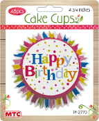 "60 PCS 4.75"" ASSORTED PASTEL COLOR CAKE CUPS (24 PACKS) PF-7553"