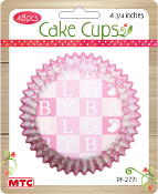 "48 PCS 4.75"" BABY GIRL CAKE CUPS (24 PACKS) PF-2771"