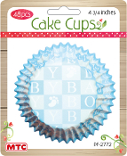 "48 PCS 4.75"" BABY BOY CAKE CUPS (24 PACKS) PF-2772"