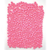 400 PC 6MM X 9MM PONY BEADS - PINK (24 PACKS) PF-3345