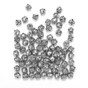 80 PC SILVER BELLS - 1 CM (24 PACKS) PF-2873