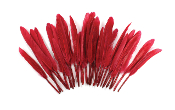 "0.22 OZ 5""-7"" GOOSE FEATHER - RED (24 PACKS) PF-3081"