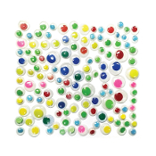 130 PC COLORED WIGGLE EYES - ASSORTED (24 PACKS) PF-2826