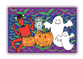 "SALE! HALLOWEEN FAMILY - 54""X72"" TABLECOVER (48 PACKS) PF-14603"