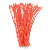 40 PC PEARLIZED CHENILLE STEMS - ORANGE (24 PACKS) PF-3375