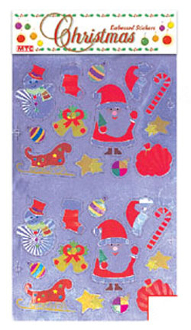 SALE! 26 SANTA CLAUS EMBOSSED STICKERS (48 PACKS) PF-7419