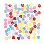 "100 PC 0.5"" BUTTONS - ASST. COLORS (24 PACKS) PF-3340"