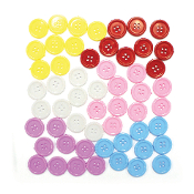 "55 PC 0.8"" BUTTONS - ASST. COLORS (24 PACKS) PF-3342"