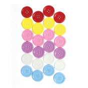 "24 PC 1.0"" BUTTONS - ASST. COLORS (24 PACKS) PF-3343"