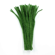 50 PC CHENILLE STEMS - ARMY GREEN (24 PACKS) PF-3557