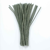 50 PC CHENILLE STEMS - GREY (24 PACKS) PF-3559