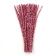 40 PC METALLIC CHENILLE STEMS - FUCHSIA (24 PACKS) PF-3571