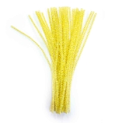 40 PC PEARLIZED CHENILLE STEMS - YELLOW (24 PACKS) PF-3575