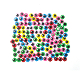 140 PC COLORFUL WIGGLE EYES - 1 CM (24 PACKS) PF-3527
