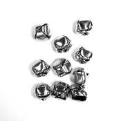 10 PC SILVER BELLS - 3 CM (24 PACKS) PF-3502