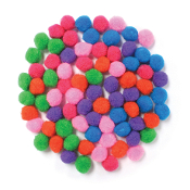 "80 PC 1"" POM-POMS - ASSORTED (24 PACKS) PF-3519"