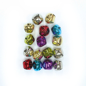 16 PC COLORED BELLS - 2 CM (24 PACKS) PF-3607