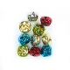 10 PC COLORED BELLS - 2.5 CM (24 PACKS) PF-3608