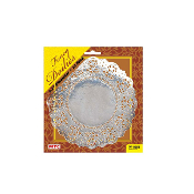 "12 PC. 6.5"" SILVER DOILIES (24 PACKS) PF-8558"