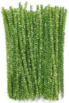 "80 PC 6"" TINSEL TWIST TIES - GREEN (24 PACKS) PF-3619"