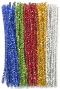 "80 PC 6"" TINSEL TWIST TIES - RED (24 PACKS) PF-3618"