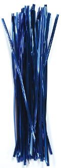 "50 PC 7.25"" TWIST TIES - BLUE (24 PACKS) PF-3626"