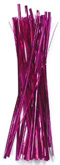 "50 PC 7.25"" TWIST TIES - MAGENTA (24 PACKS) PF-3625"
