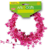 25 FT WIRE STAR GARLAND - MAGENTA (24 PACKS) PF-2846