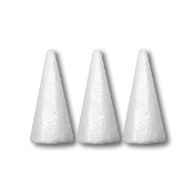 "3 PC 4.5"" FOAM CONES (24 PACKS) PF-3548"
