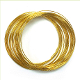 8 M X 1 MM CRAFT WIRE - GOLD (24 PACKS) PF-3814