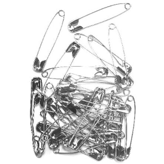 36 PC 5.5 CM (SIZE 4) SAFETY PINS - SILVER (24 PACKS) PF-3839