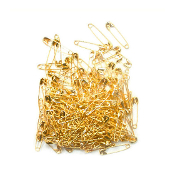 160 PC 2.4 CM (SIZE 00) SAFETY PINS - GOLD (24 PACKS) PF-3834