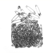 100 PC 2.6 CM (SIZE 0) SAFETY PINS - SILVER (24 PACKS) PF-3835