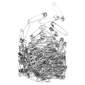 90 PC 3.0 CM (SIZE 1) SAFETY PINS - SILVER (24 PACKS) PF-3836