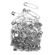 80 PC 3.7 CM (SIZE 2) SAFETY PINS - SILVER (24 PACKS) PF-3837
