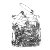 50 PC 4.5 CM (SIZE 3) SAFETY PINS - SILVER (24 PACKS) PF-3838