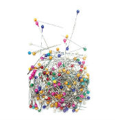 200 PC PEARL BALL PINS - ASSORT COLORS (24 PACKS) PF-3840
