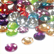 90 PC 14 MM RHINESTONES - ASSORTED COLORS (24 PACKS) PF-3777