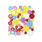 55 PC MIXED SIZES BUTTONS - ASSORTED (24 PACKS) PF-3483