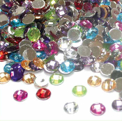 400 PC 8 MM RHINESTONES - ASSORTED COLORS (24 PACKS) PF-3759