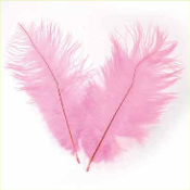 "2 PC 6""-8"" OSTRICH FEATHERS - PINK (24 PACKS) PF-3750"